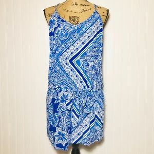 Lilly Pulitzer Blue Romper with tie Size Large
